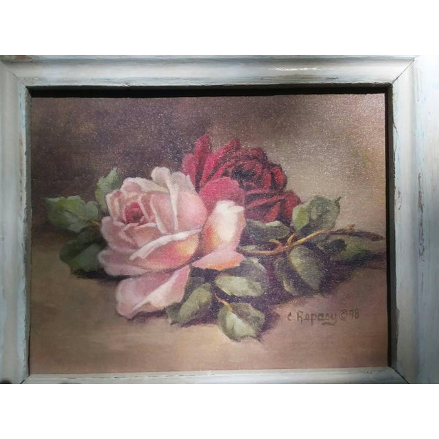 Christie Repasy Wine & Pink Roses Shabby Chic Painting - Image 3 of 5