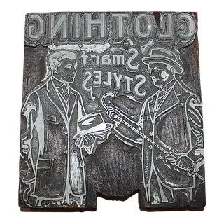 Advertising Engraver's Plate