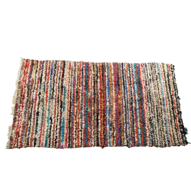 """Vintage Boucherouite Carpet - 7' X 4'1"""" - Image 1 of 3"""