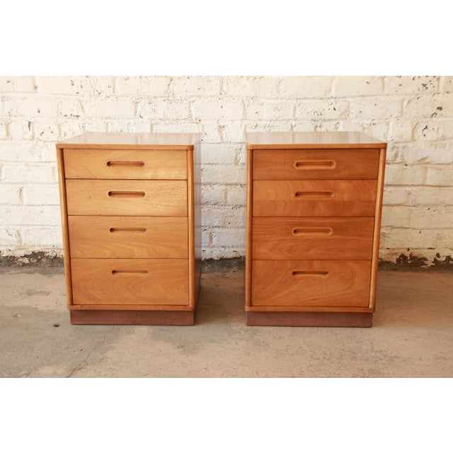 Edward Wormley for Dunbar Mid-Century Nightstands - a Pair - Image 3 of 11