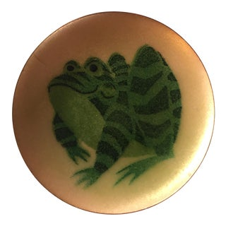 Annemarie Davidson Frog Enamel Art Plate