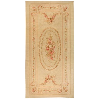 Antique Extremely Finely Woven 19th Century Aubusson Carpet