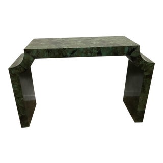Green Shell Console Table