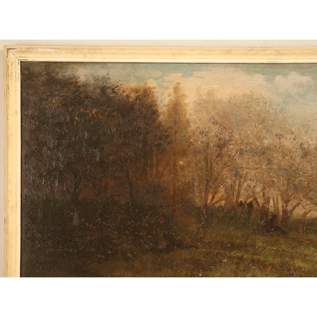 """Amazing 9'8"""" Original Antique French Panoramic Oil Painting on Linen - Image 4 of 10"""