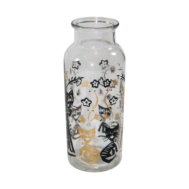 Black & Gold Cat Vase Bottle - Image 1 of 5
