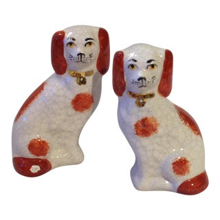 Small English Ceramic Dogs - a Pair