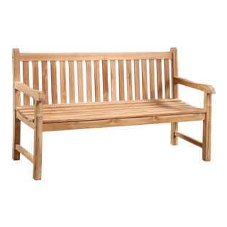 Teak Slatted Outdoor Bench