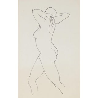 Nude Line Drawing by R. Matteson