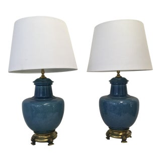 Mid-Century Asian Style Lamps - A Pair