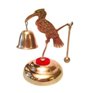 Art Deco Chrome Crane Dinner Bell