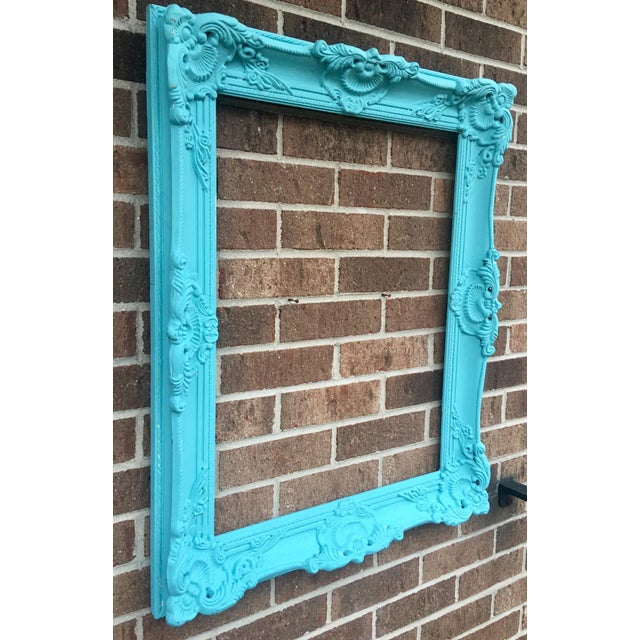 Antique Tiffany Blue Plaster Picture Frame - Image 8 of 10