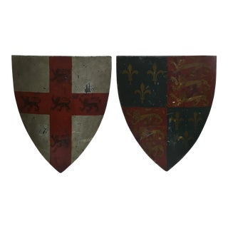 19th Century English Shields - A Pair