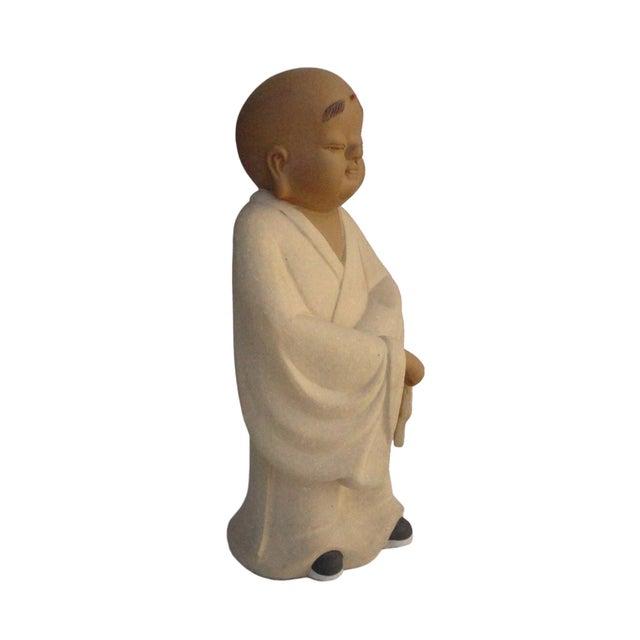 Chinese Ceramic Monk Buddha Lo Han Figurine - Image 2 of 4