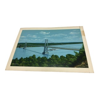 Mid-Hudson Bridge from Poughskeepie Painting