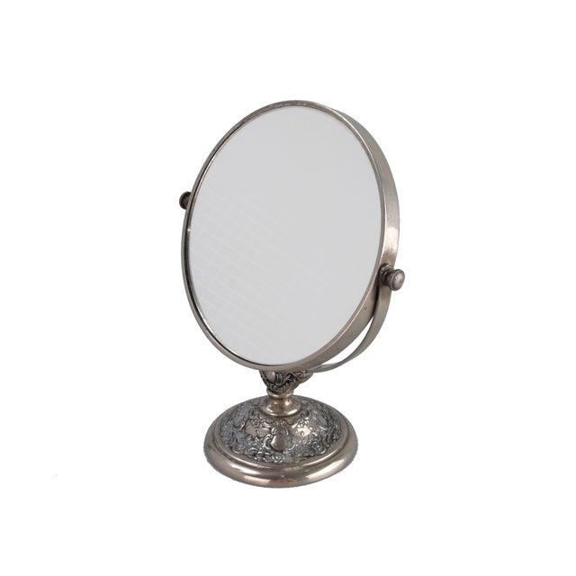 Silver-Plate Vanity Mirror - Image 3 of 9