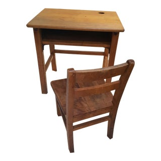 Mid-Century Modern Child's Desk and Chair