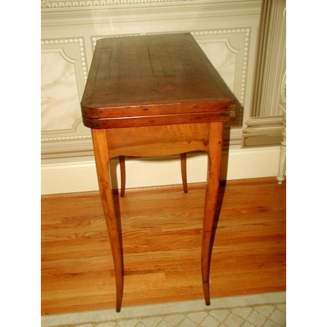 C.1850 French Game Table Inlaid Walnut Fruitwood - Image 5 of 10