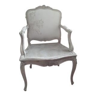 Hand Painted Bergere Chair Accent Chair. Bedroom Living Room