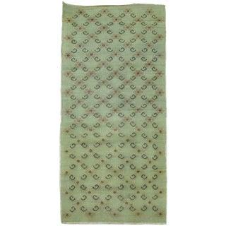 Green Vintage Turkish Rug - 2′4″ × 4′9″