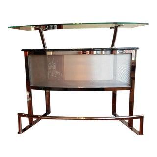 Black Marble & Glass Dry Bar