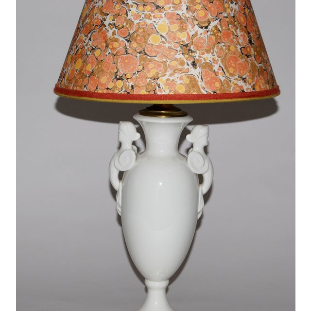 Neoclassical Lamp W/ Marble Lampshade - Image 4 of 5