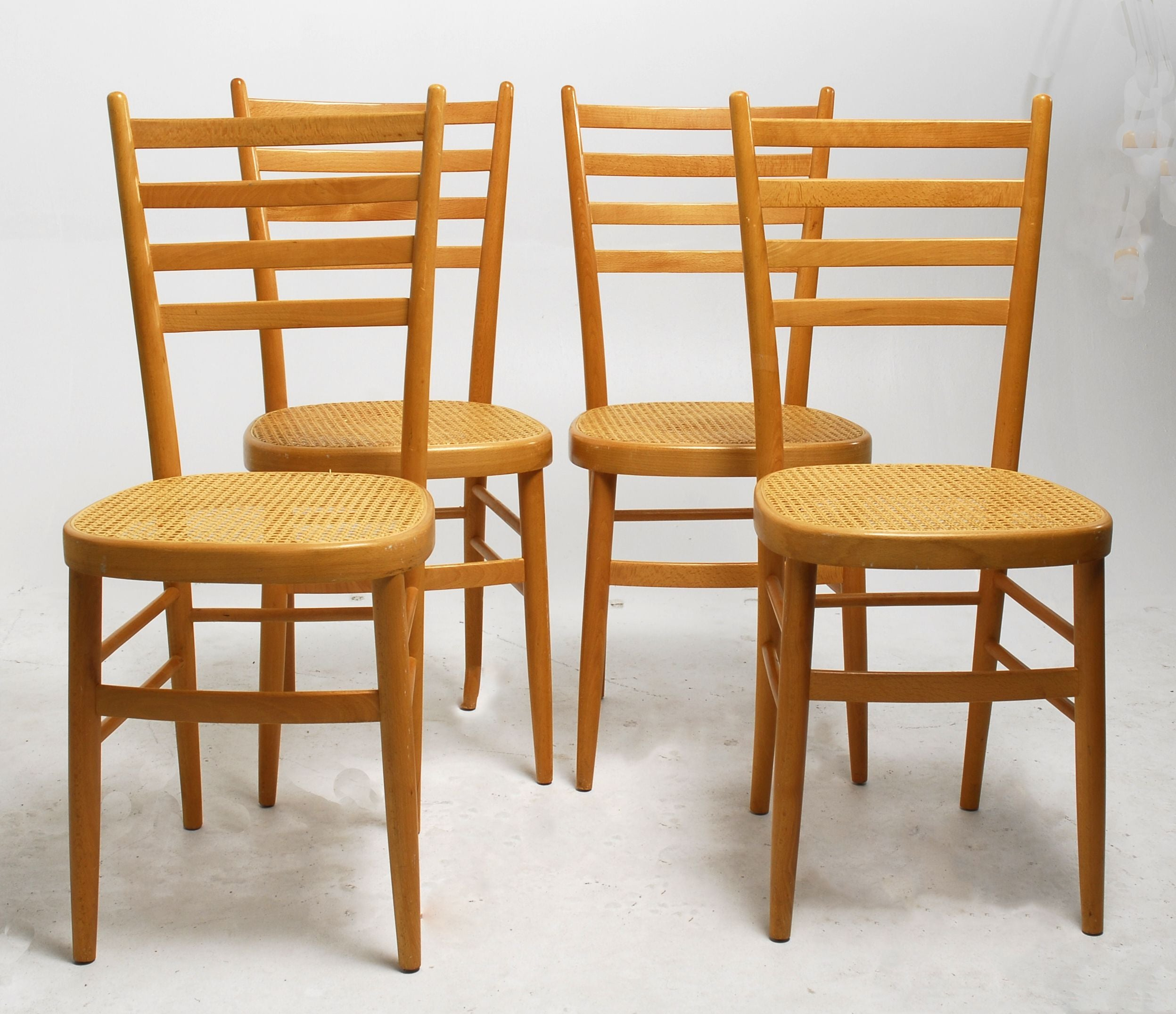dining chairs set of ladderback dining chairs with cane seats