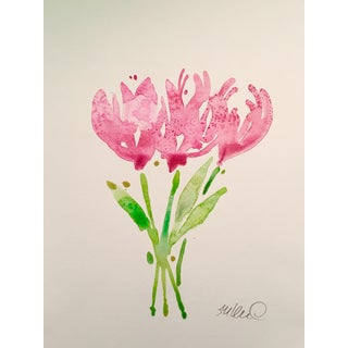Tulips in Pink Original Watercolor Painting