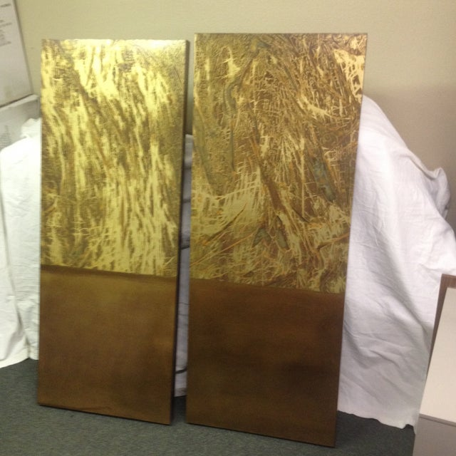 Copper Art Work Panels - A Pair - Image 3 of 9