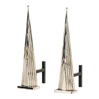 Howard Brass Andirons - a Pair
