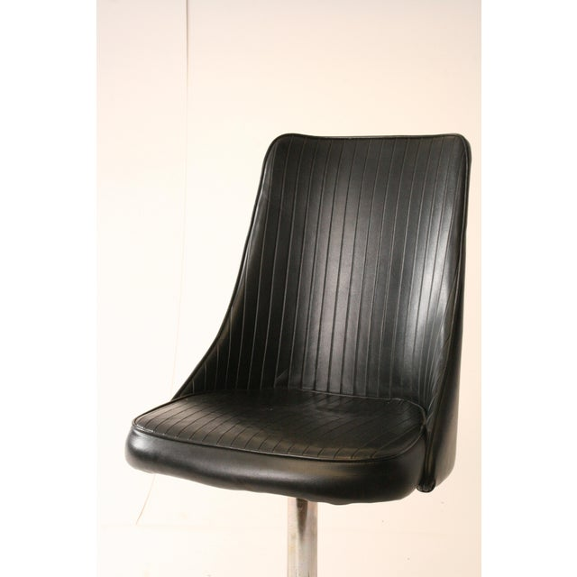 Chromcraft Mid-Century Black Swivel Dining Chair - Image 4 of 11