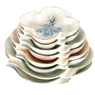 Vintage 1950s Hand Painted Candy Dishes - Set of 8