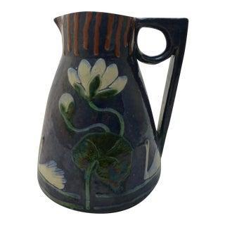Antique Arts and Crafts English Pottery Pitcher