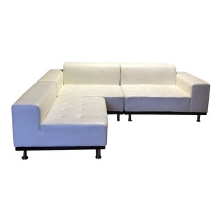 Modern White Leather Sectional by Modani