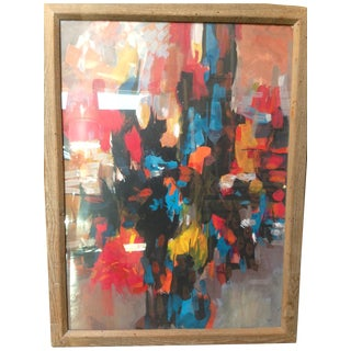 Stuart M. Egnal Abstract Oil Painting