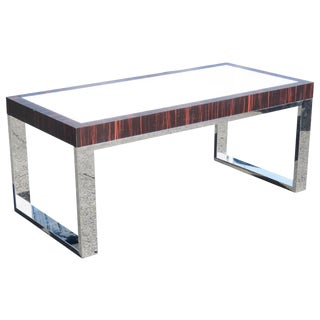 Macassar Chrome & Laminate Coffee Table