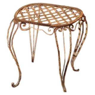 Pair Of 19th Century French Iron Garden Stools