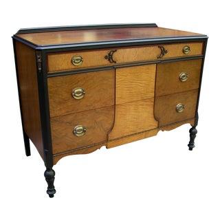 Vintage Walnut and Black Dresser/Sideboard