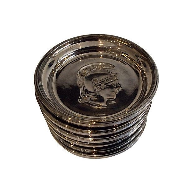 Image of Roman Soldier Mercury Glass Coasters- Set of 6