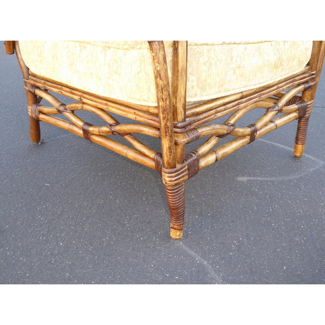 Vintage Rattan Accent Arm Chair - Image 9 of 11