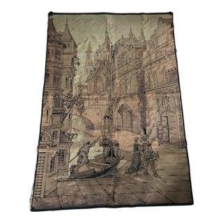 Vintage Gondola Scene Tapestry