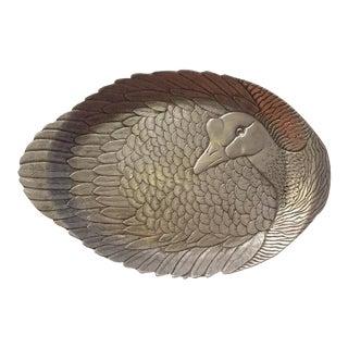 Arthur Court Sand Cast Aluminum Duck Platter