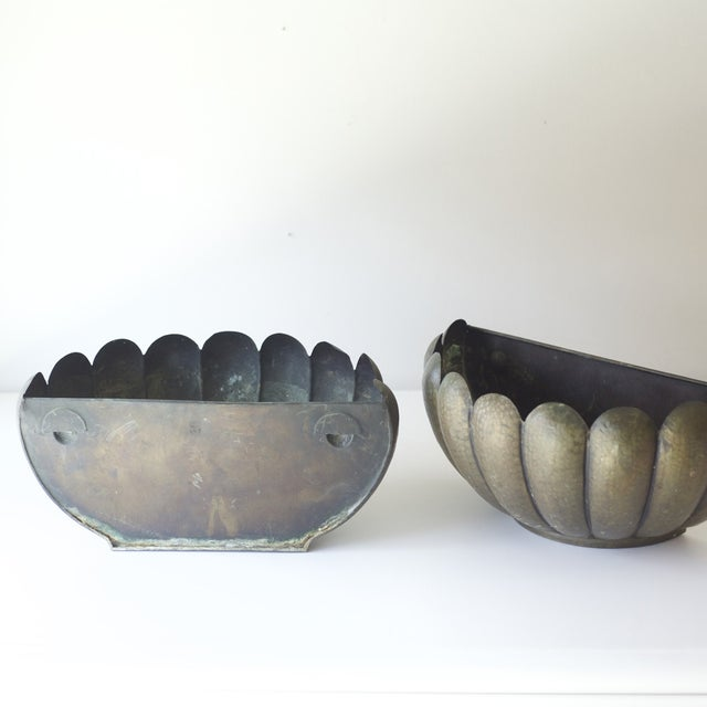 Mid-Century Modern Wall Planters - A Pair - Image 4 of 5