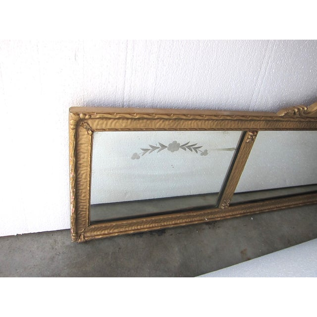 Antique 1920s rococo style gilded long wall mirror chairish for Long antique mirror