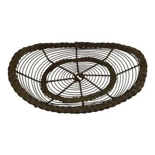 Vintage Brass Wire Basket
