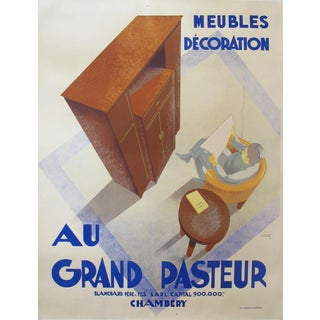 1935 Original French Art Deco Poster, Au Grand Pasteur