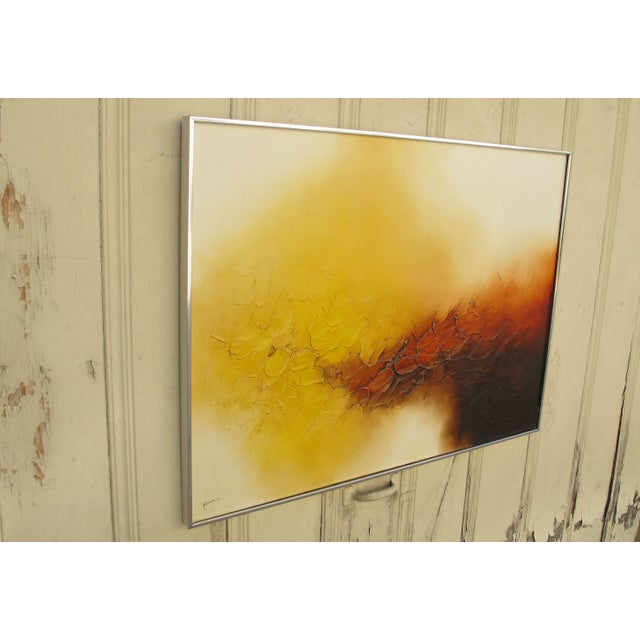 Signed Ferris Abstract Oil Painting - Image 3 of 5