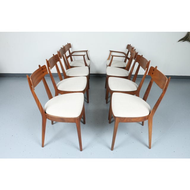 Kipp Stewart for Drexel set of 8 Dining Chairs - Image 2 of 11