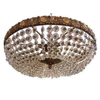 Crystal Basket Six-Light Chandelier