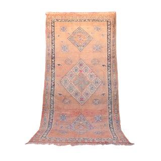 """Vintage Talsint Moroccan Rug, 6'8"""" x 13'1"""" feet"""