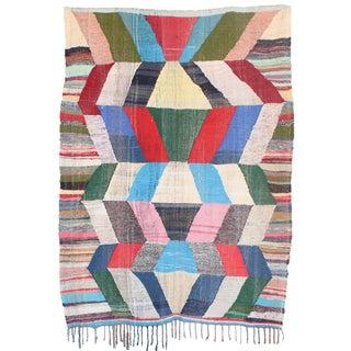 Moroccan Kilim Boucherouite - 5′8″ × 7′8″